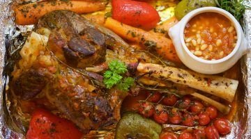 Pečené telecí se zeleninou